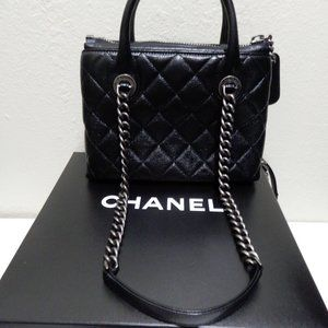 Chanel small Zip shopping Bag  new w/ box $3400